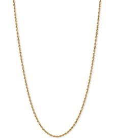 """18"""" Glitter Rope Chain Necklace (1-3/4mm) in 14k Gold"""