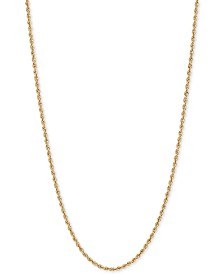 "18"" Glitter Rope Chain Necklace (1-3/4mm) in 14k Gold"