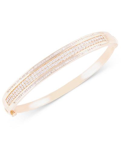 Diamond Bangle Bracelet (2 ct. t.w.) in 10k Gold