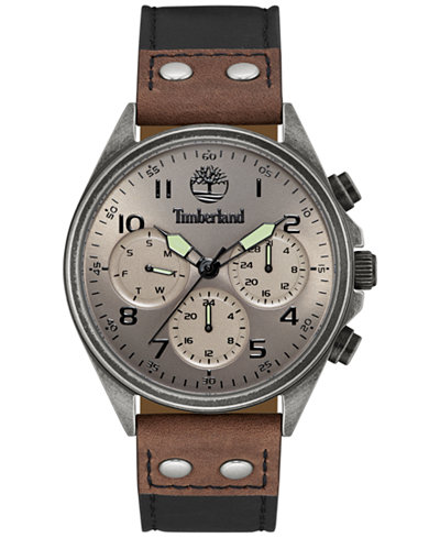 timberland men s wolcott two tone leather strap watch 44x48mm timberland men s wolcott two tone leather strap watch 44x48mm tbl14859jsqs61