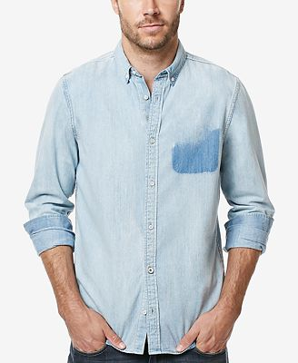 Buffalo David Bitton Men's Sigmun Denim Shirt - Casual Button-Down ...