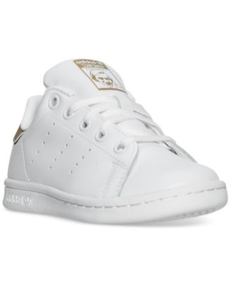 adidas Little Girls\u0027 Stan Smith Casual Sneakers from Finish Line