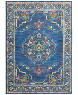 """CLOSEOUT! Vibe Aztec Blue 6'7"""" x 9'6""""Area Rug"""