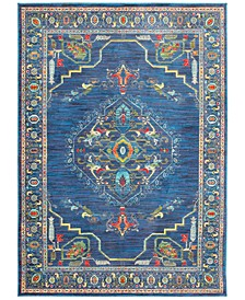"""CLOSEOUT! Vibe Aztec Blue 5'3"""" x 7'6""""Area Rug"""