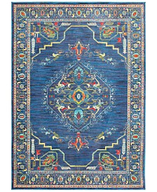 "CLOSEOUT! JHB Design Vibe Aztec Blue 7'10"" x 10'10"" Area Rug"