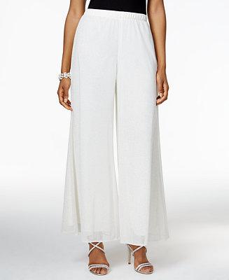 Msk Metallic Palazzo Pants Pants Women Macy S