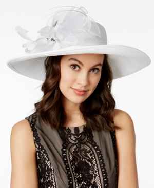 Retro Vintage Style Hats August Hats Iris Romantic Profile Hat $88.00 AT vintagedancer.com