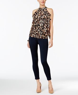 Thalia Sodi Mock-Neck Ruffle Top & Jeggings, Only at Macy's