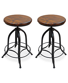 Corbyn Set of 2 Bar Stools, Quick Ship