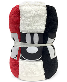 Jay Franco Big Face Mickey Mouse 6-Pc. Washcloth Set