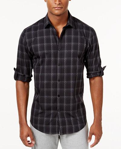 Alfani Men 39 S Plaid Shirt Created For Macy 39 S Casual
