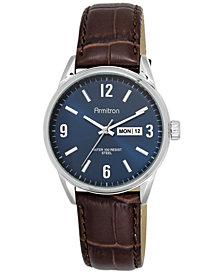 Armitron  Men's Brown Leather Strap Watch 40mm 20-5048NVSVBN