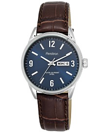 Armitron  Men's Brown Leather Strap Watch 40mm 20-5048NVSVBN