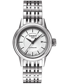 Tissot Women's Swiss Automatic T-Classic Carson Stainless Steel Bracelet Watch 30mm T0852071101100