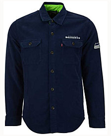 Levi's Men's Seattle Seahawks Overshirt Button Down Shirt