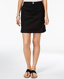 Karen Scott Petite Dot-Print Skort, Created for Macy's