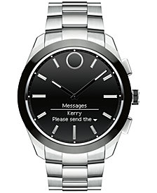 Movado Men's Swiss Bold Motion Connected II Stainless Steel Bracelet Smart Watch 44mm 3660013