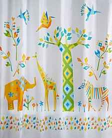 Origami Jungle Shower Curtain