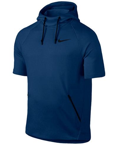 Nike Men's Dry Short-Sleeve Training Hoodie - Hoodies ...