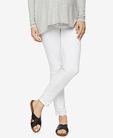 Paige Denim Maternity White Wash Skinny Jeans