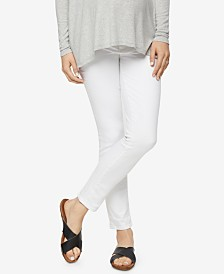Paige Denim Maternity White Wash Skinny Jeans