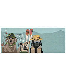 Liora Manne Front Porch Indoor/Outdoor Fishing Patrol Dk Mult Area Rug