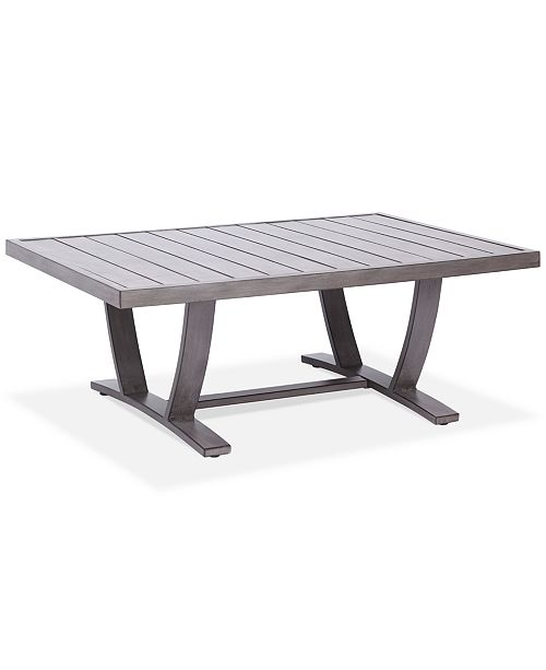 Furniture Tara Aluminum Outdoor Rectangle Coffee Table