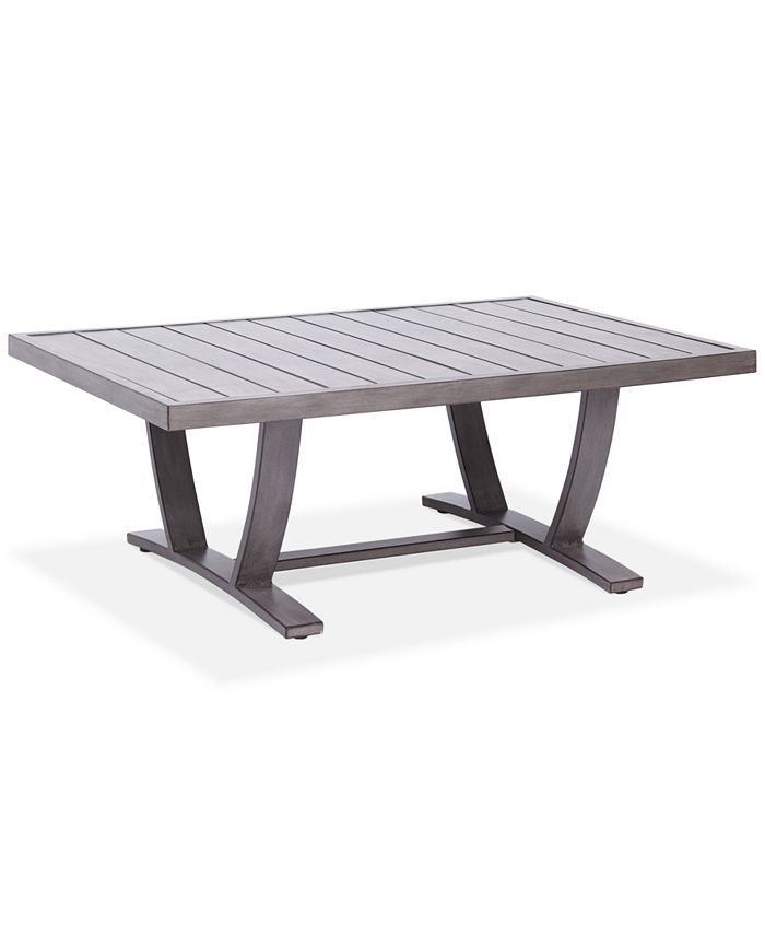 Furniture - Tara Aluminum Outdoor Rectangle Coffee Table