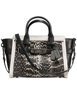 Coach Colorblock Swagger 27 In Genuine Snake Handbags