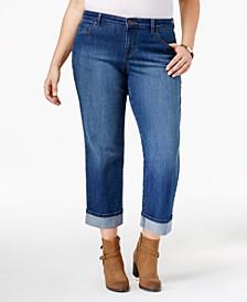 Plus Size Curvy Cuffed Capri Jeans, Created for Macy's