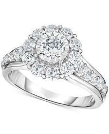 TruMiracle® Diamond Bridal Engagement Ring (1-1/2 ct. t.w.) in 14k White Gold