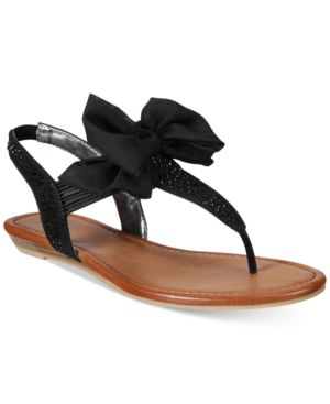 Material Girl Swan Flat Thong Sandals, Created for Macy