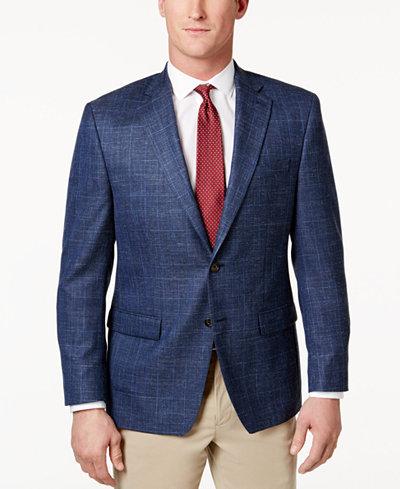 Lauren Ralph Lauren Men's Classic-Fit Blue Plaid Sport Coat ...
