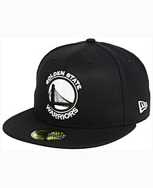 New Era Golden State Warriors Black White 59FIFTY Cap