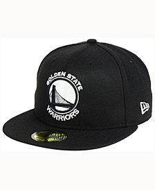 New Era Golden State Warriors Black White 59FIFTY Cap