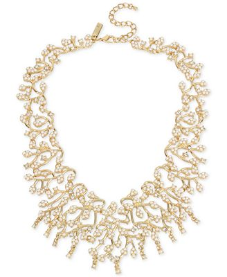 M. Haskell for INC International Concepts Gold-Tone Imitation Pearl and Crystal Statement Necklace, Only at Macy's