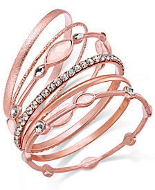 I.N.C. 6-Pc. Crystal Bangle Bracelet Set, Created for Macy's