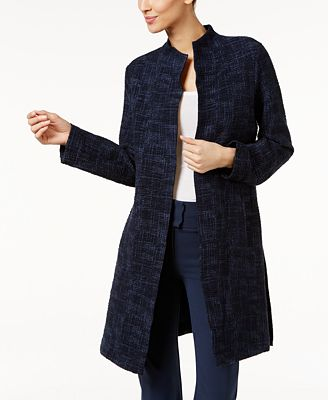 Eileen Fisher Printed Open-Front Jacket