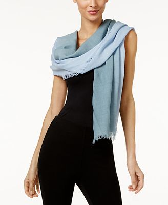 Eileen Fisher Silk Fringe-Trim Scarf