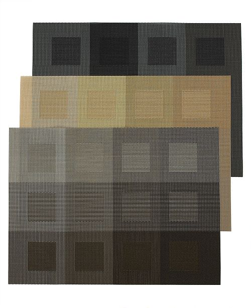 Chilewich CLOSEOUT! Engineered Squares Vinyl Placemat
