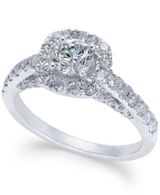 Diamond Halo Engagement Ring (1-1/4 ct. t.w.) in 14k
