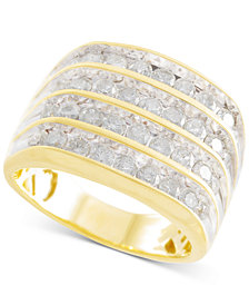 Men's Diamond Multi-Row Ring (2 ct. t.w.) in 10k Gold