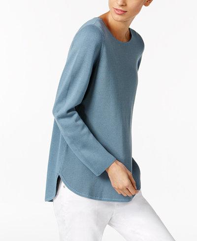 Eileen Fisher Silk-Blend Crew-Neck Sweater