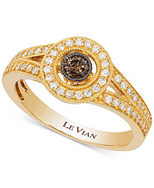 Le Vian Deco Estate Collection™ Diamond Ring (3/8 ct. t.w.) in 14k Gold