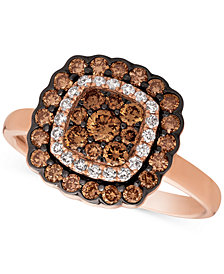 Le Vian Chocolatier® Diamond Framed Ring (7/8 ct. t.w.) in 14k Rose Gold