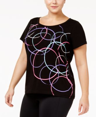 Ideology Plus Size Graphic Performance T-Shirt, Only at Macy's