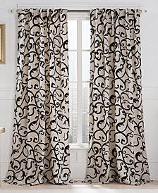 "Victoria Classics Brandy Flocked 54"" x 84"" Tab Top Window Panel"