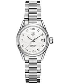 TAG Heuer Women's Swiss Automatic Carrera Diamond (1/10 ct. t.w.) Stainless Steel Bracelet Watch 28mm