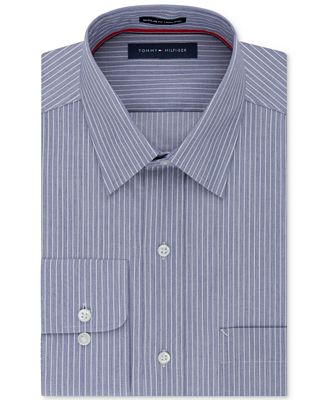 Tommy Hilfiger Men's Classic Fit Non-Iron Stripe Dress Shirt