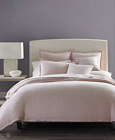 CLOSEOUT! Hotel Collection Rosequartz Linen Full/Queen Duvet Cover, Created for Macy's